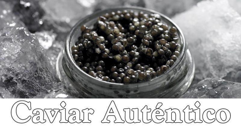Autentico caviar ruso.