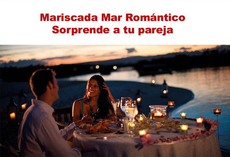 Mariscada muy romántica con tu pareja en casa.