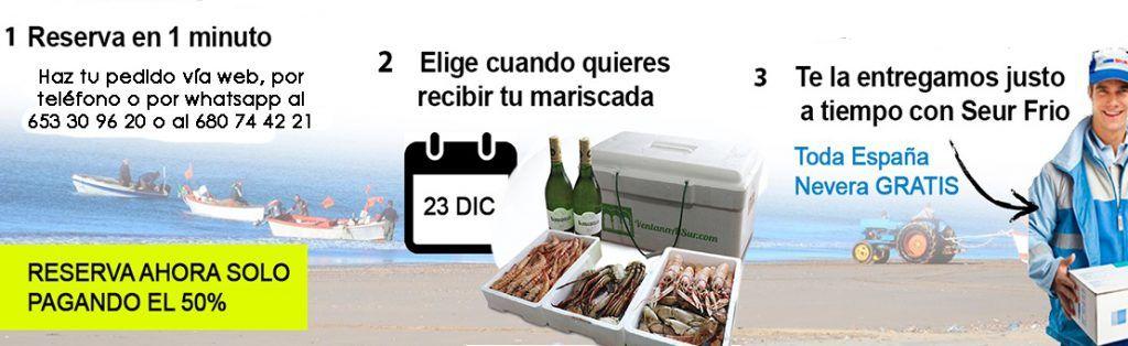 Mariscadas a Domicilio Online al mejor precio.