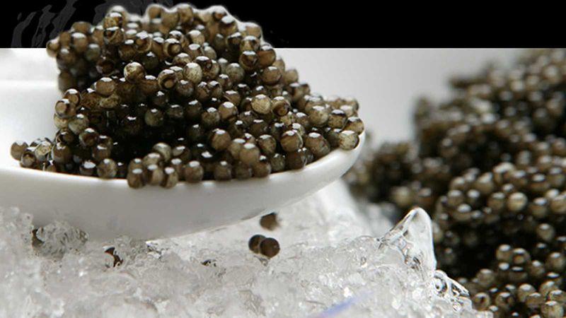 Caviar auténtico.