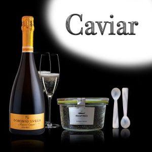 Lote caviar auténtico y cava