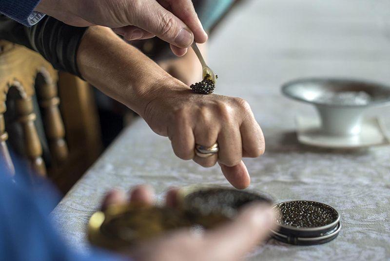 ¿Cómo debe comer el caviar?