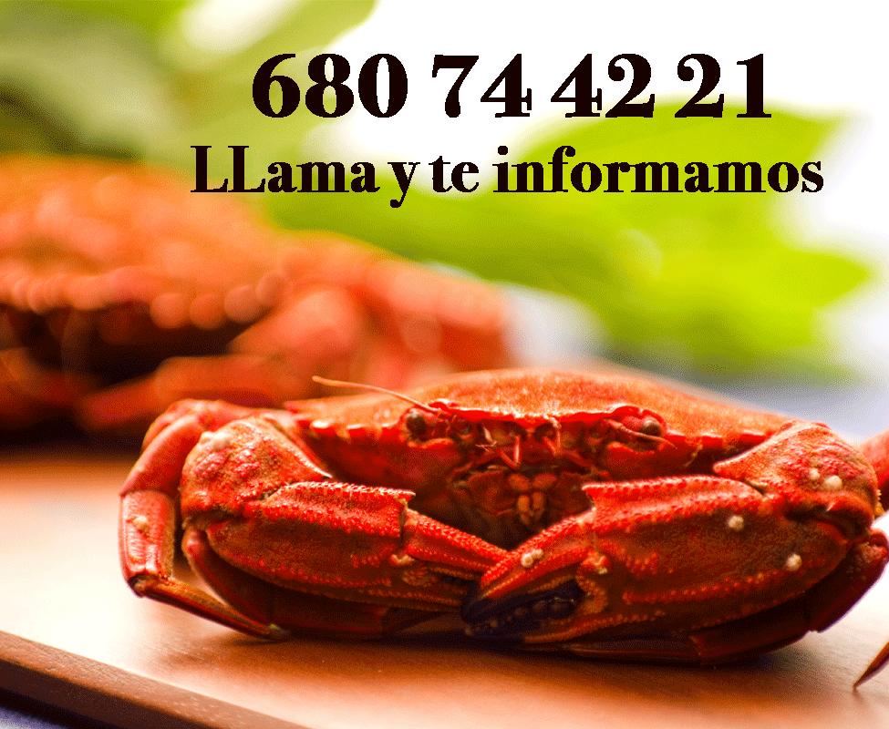 Información de y venta de marisco de mar a domicilio.