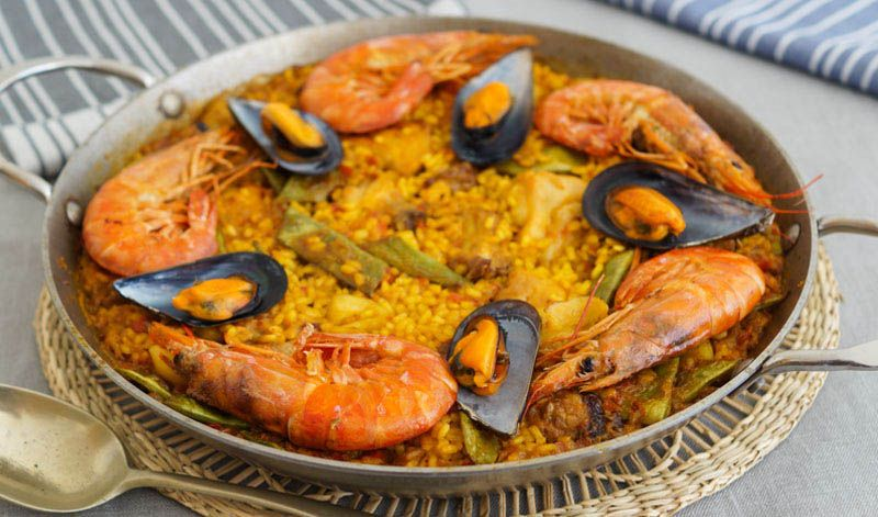 Paellas y arroces con marisco