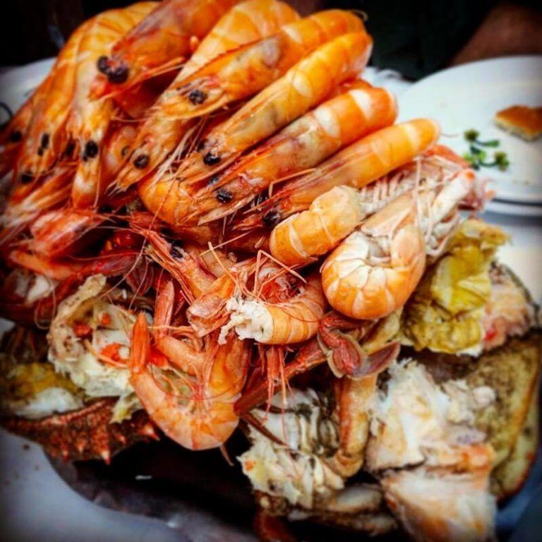 comer mariscos en Pontevedra