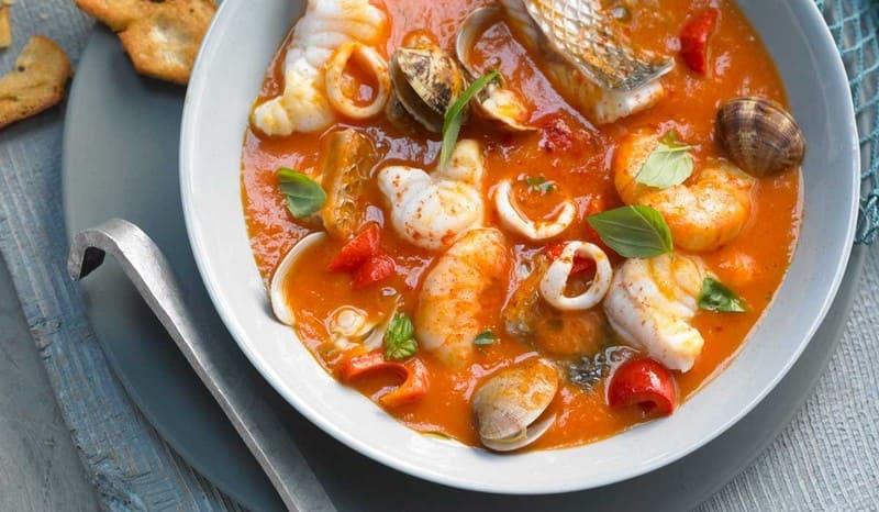 Sopa de mariscos en el Restaurante Cambados