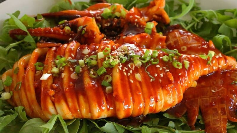 Calamar guisado en Torico Gourmet