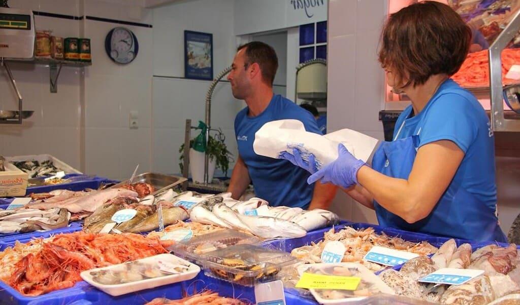 Pescadería lonja de Cádiz