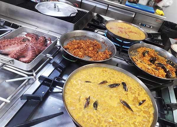Cocina del Cocedero de Kiele en Ciudad Real