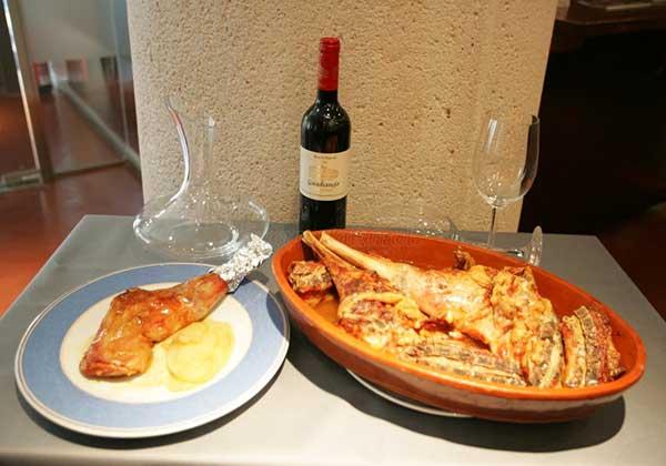 Sabrosos platos en restaurante San Huberto