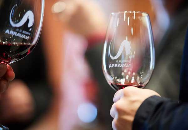 Copas con vino de Navarra