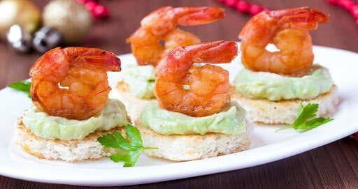 canapes catering gambas